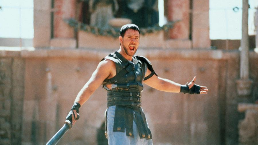 "Russell Crowe em ""Gladiador"" - ©Dreamworks/Universal/The Kobal  Collection/Jaap Buitendijk"