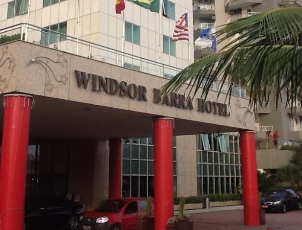 6.jan.2014 - Fachada do hotel Windor Barra, onde estão confinados os BBBs