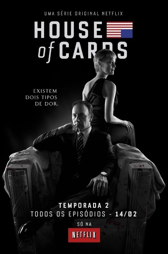 """6.jan.2014 - Netflix divulga pôster da segunda temporada da série """"House of Cards"""""""