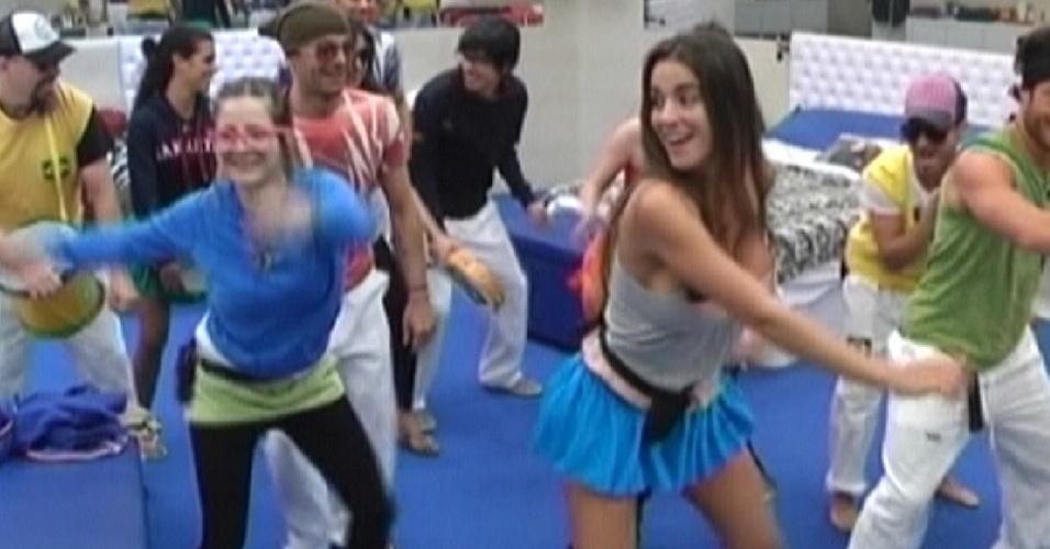"""A participante Laisa foi para o """"Gran Hermano Espanha"""" e ensinou os hermanos a dançarem o créu"""