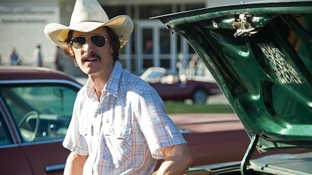 "Matthew McConaughey em cena de ""Dallas Buyers Club"""