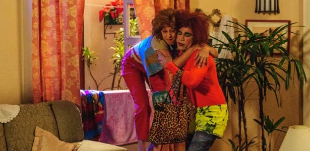 """Valéria (Rodrigo Sant'anna) e Janete (Thalita Carauta) no """"Zorra Total"""""""