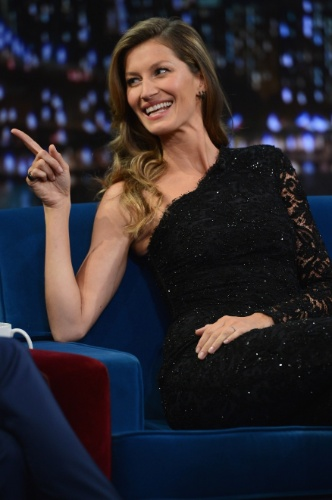 6.jan.2013 - Gisele Bundchen participa do talk show norte americano