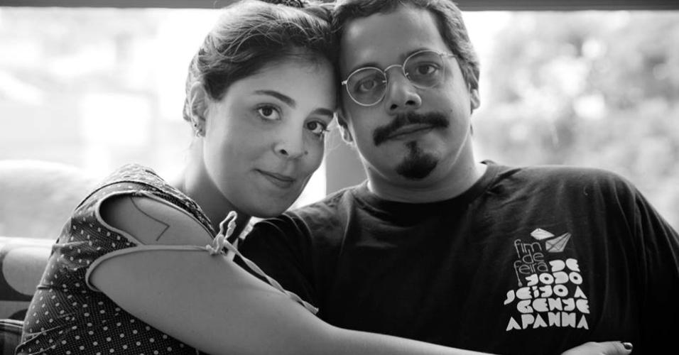 A bailarina de Recife, Bella Maia, 27 anos, e o marido, o produtor musical Bruno Lins
