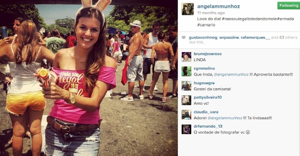 Em 2013, a morena curtiu o Carnaval no Rio de Janeiro