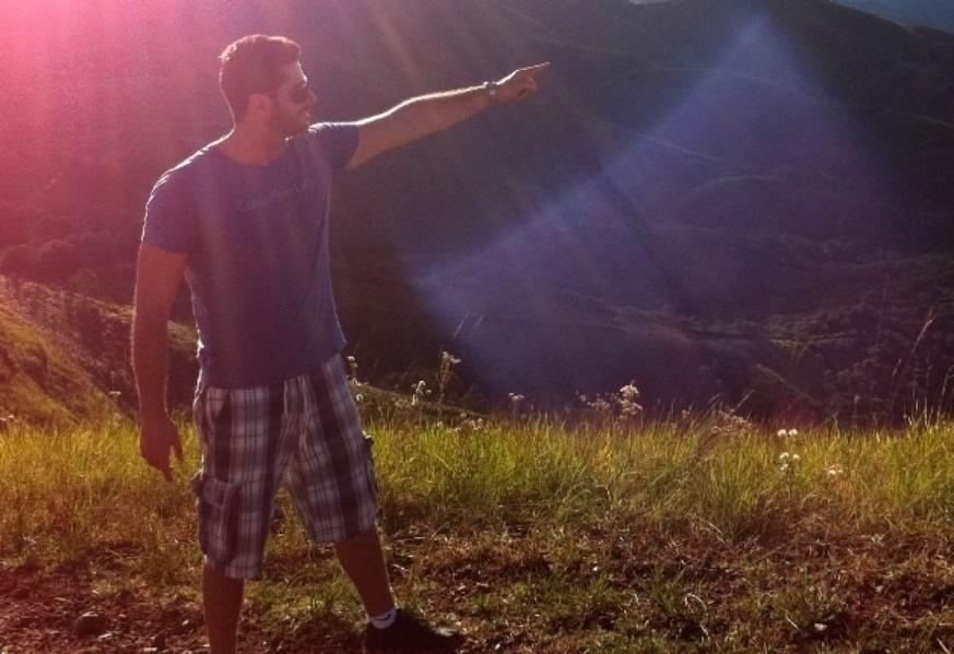 Marcelo Zagonel tem 26 anos e trabalha como administrador e ama a natureza