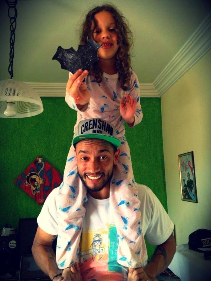 Slim e a filha Cecília