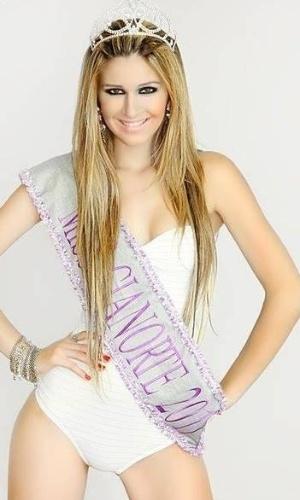 A representante do Paraná de 22 anos foi eleita eleita Miss Cianorte em 2011