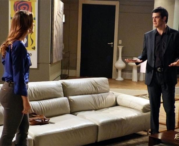 Félix sugere um novo plano para Paloma desmascarar Aline