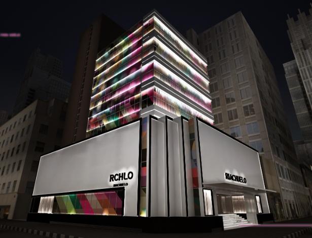 Projeto mostra a fachada da loja Riachuelo que será aberta na avenida Paulista, em São Paulo - Divulgação