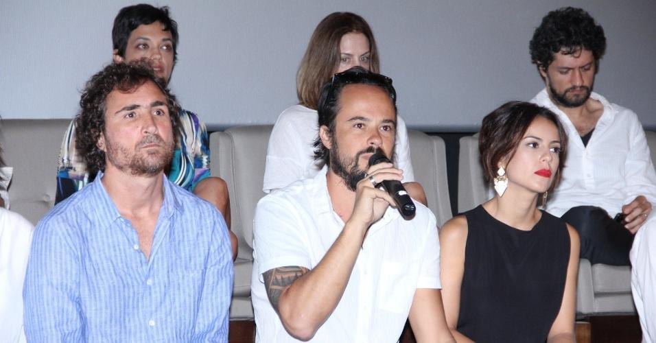 """10.jan.2014 - Paulo Vilhena fala com a imprensa na coletiva de imprensa da minissérie """"A Teia"""""""