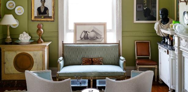 Pedacinho da sala de jantar do apartamento da designer Sheila Bridges, no Harlem, em Nova York (EUA) - Trevor Tondro/ The New York Times