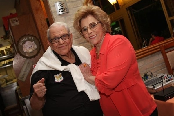 Marly Marley com seu marido, o ator e humorista Ary Toledo