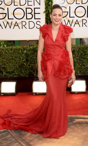 12.jan.2014 - A atriz Berenice Bejo chega para a edição 2014 do Globo de Ouro, em Beverly Hills