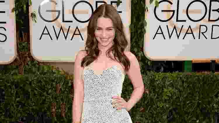 Emilia Clarke no Globo de Ouro 2014 - Jason Merritt/Getty Images - Jason Merritt/Getty Images