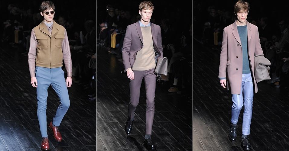 Grifes italianas de luxo desfilam novidades para os homens no Inverno  201470 fotos 5bdc8900a4