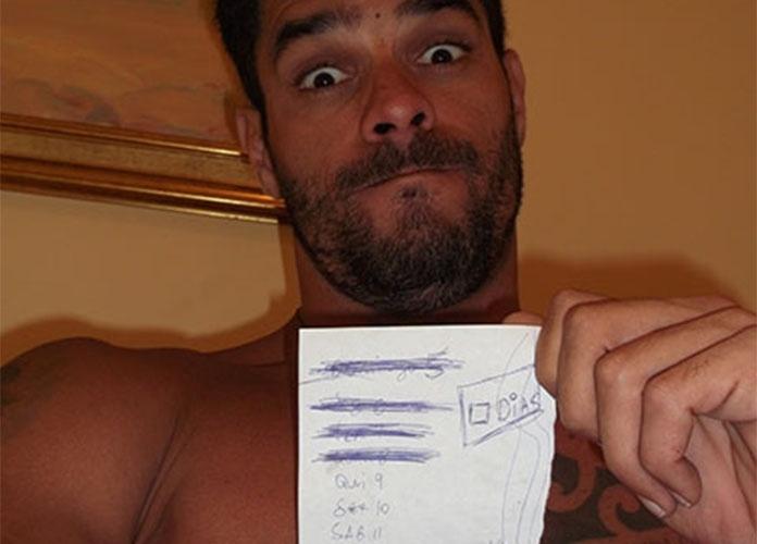 """Confinado no hotel, Diego conta os dias para o início do """"BBB14"""""""