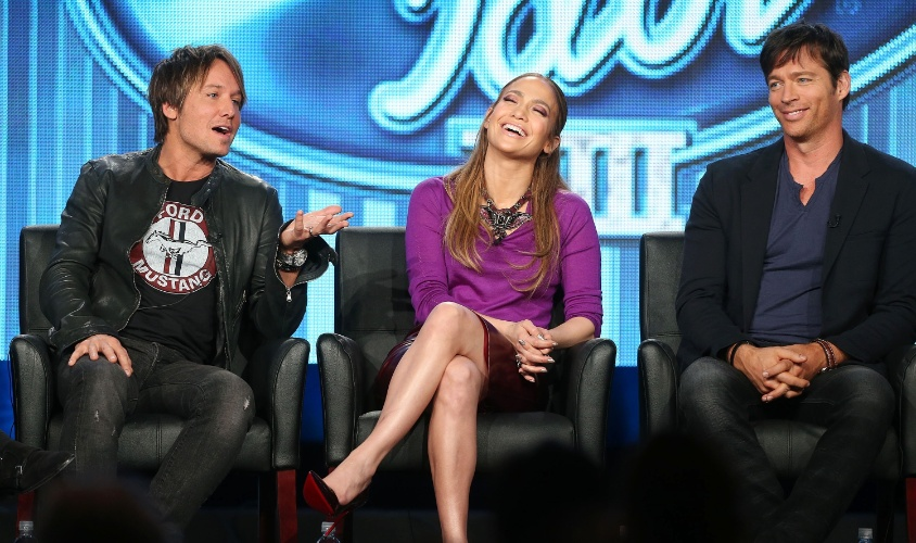 "13.jan.2014 - Elenco de ""American Idol"" lança a 13ª temporada do programa"