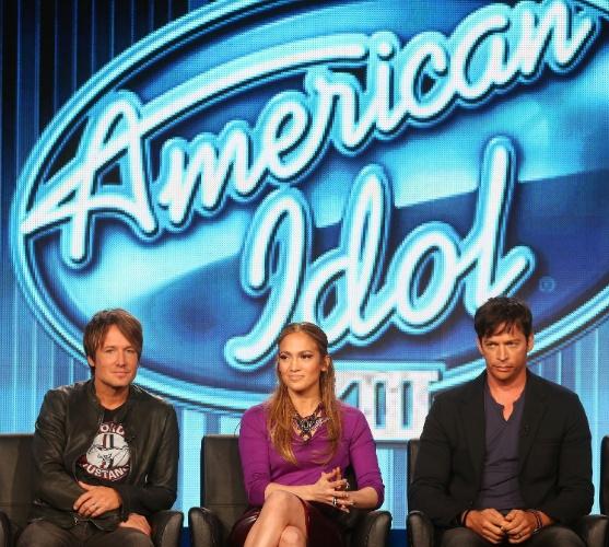 """13.jan.2014 - Elenco de """"American Idol"""" lança a 13ª temporada do programa"""