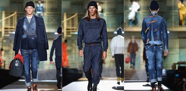 A DSquared2 se inspirou nas penitenciárias para criar sua coleção para o  Inverno 2014, apresentada 0566d7a50b
