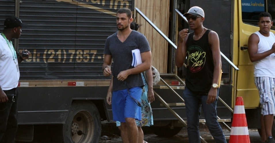 14.jan.2014 - Cauã Reymond grava cenas de
