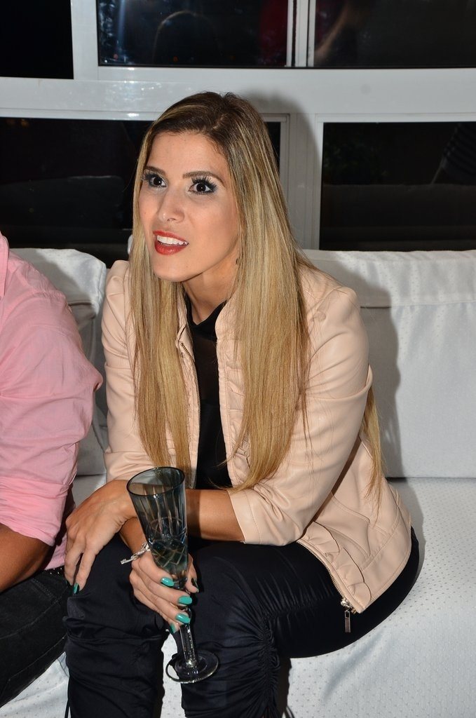 "14.jan.2014 - Milena Fagundes assiste à estreia do ""BBB14"""