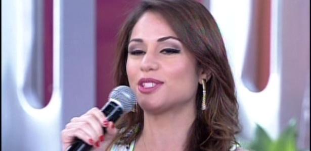 """15.jan.2014 - Maria Melilo durante participação no """"Encontro"""""""