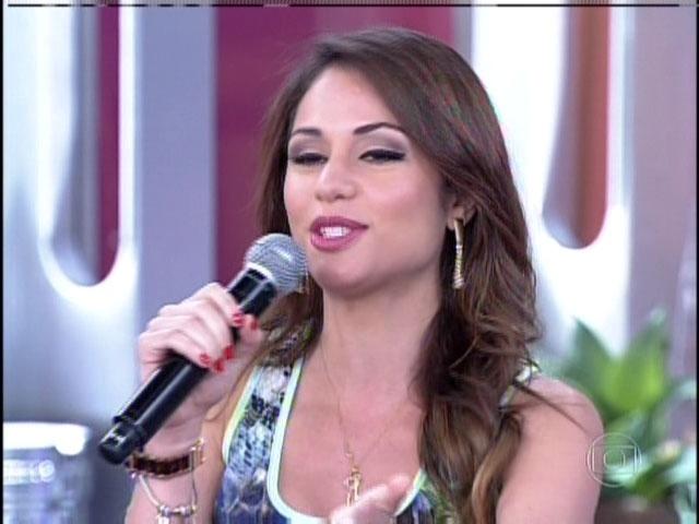 15.jan.2014 - Maria Melilo durante participação no