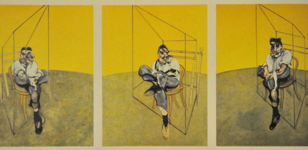"""Obra """"Três Estudos de Lucian Freud"""", de Francis Bacon - Reprodução"""