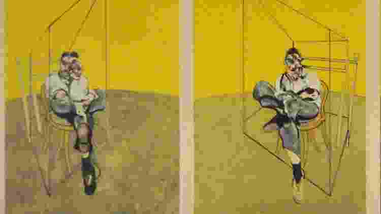 """Obra """"Três Estudos de Lucian Freud"""", de Francis Bacon - Reprodução - Reprodução"""