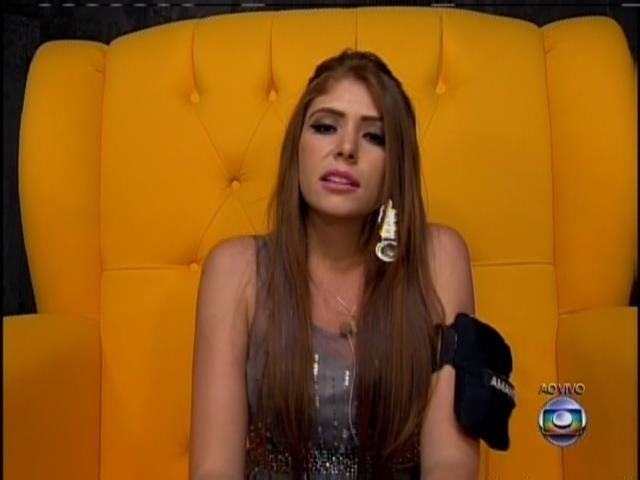18.jan.2014 - Amanda está no segundo paredão do BBB14