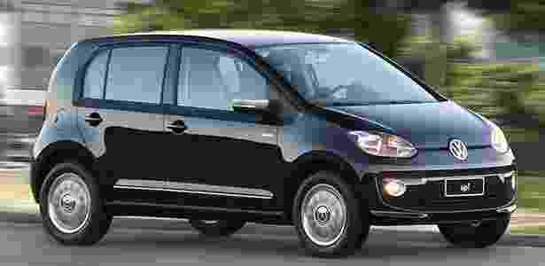 Volkswagen Up terá seis versões no Brasil; a da foto é a Black, uma das topo de gama - Divulgação