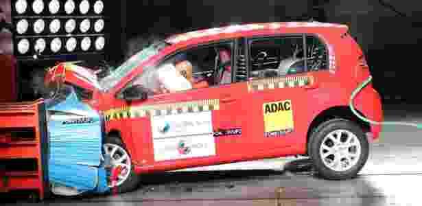 Volkswagen up! levou cinco estrelas no Latin NCAP; Ford Focus e EcoSport também têm nota máxima - Divulgação