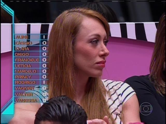 20.jan.2014 - Aline foi votada por Diego