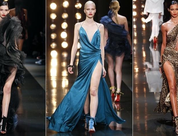 21 jan. 2014 - Modelos desfilam looks de Alexandre Vauthier para o Verão 2014 durante a semana de alta-costura de Paris - AFP/AFP/AP