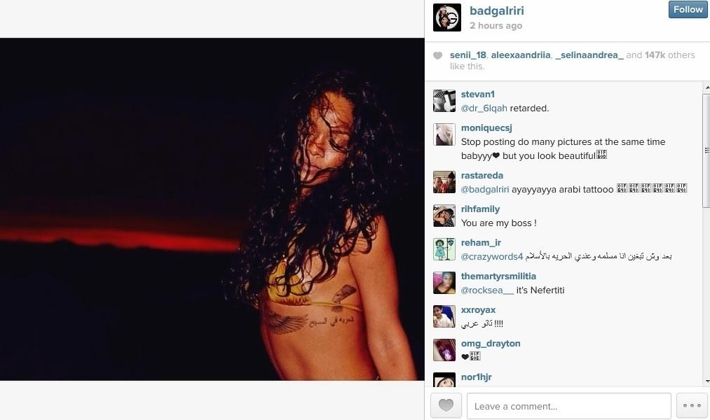 21.jan.2013 - Rihanna divulgou imagens onde aparece se divertindo em um iate