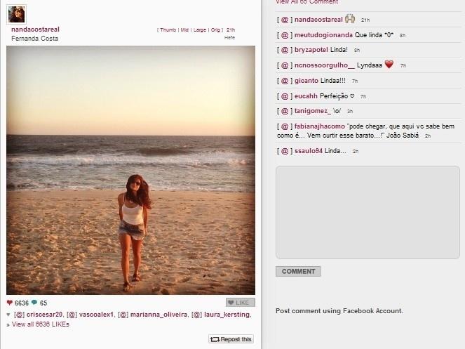 21.jan.2014 - Nanda Costa aproveita o verão em sua cidade natal, Paraty, no Estado do Rio de Janeiro
