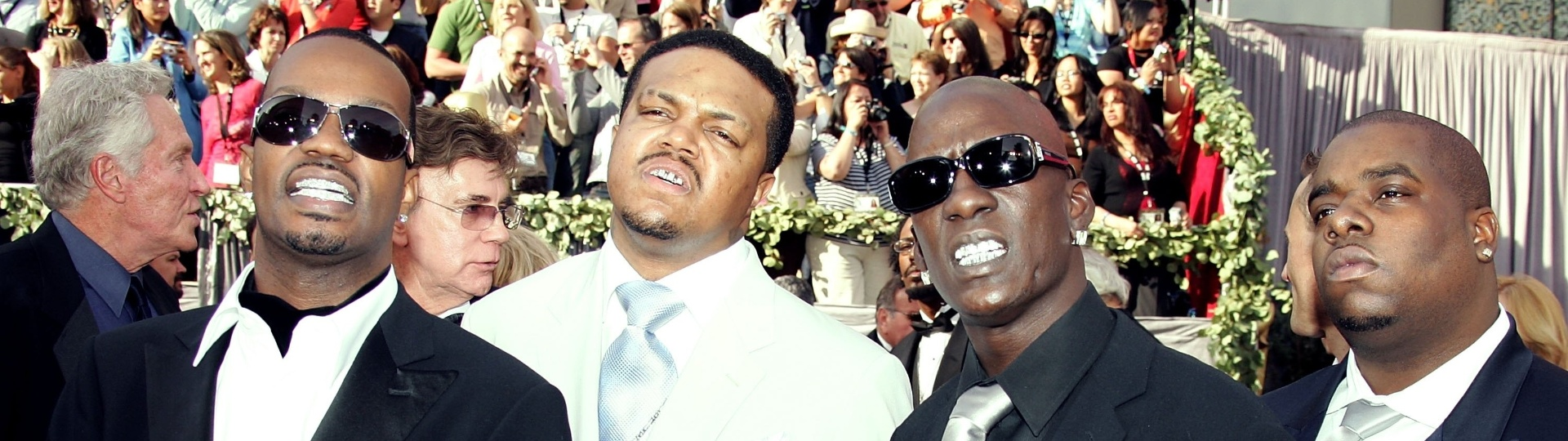 21.jan.2014 - O grupo de rap Three 6 Mafia recebeu Oscar pela música