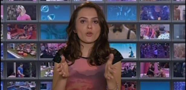 """Em sua primeira aparição no """"BBB14"""", a nova comentarista, Monica Iozzi, ironiza o reality"""