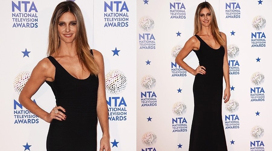 22.jan.2014 - Fernanda Lima compareceu ao National Television Awards, em Londres