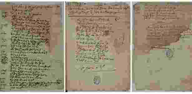 """Fotografia distribuída pela Biblioteca Nacional da Espanha mostra uma cópia manuscrita de uma obra inédita do dramaturgo Lope de Vega, a comédia """"Mujeres y Criados"""", considerada perdida - EFE"""