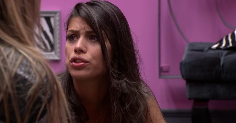 22.jan.2014 - Franciele diz que chorou de nervoso com voto de Bella