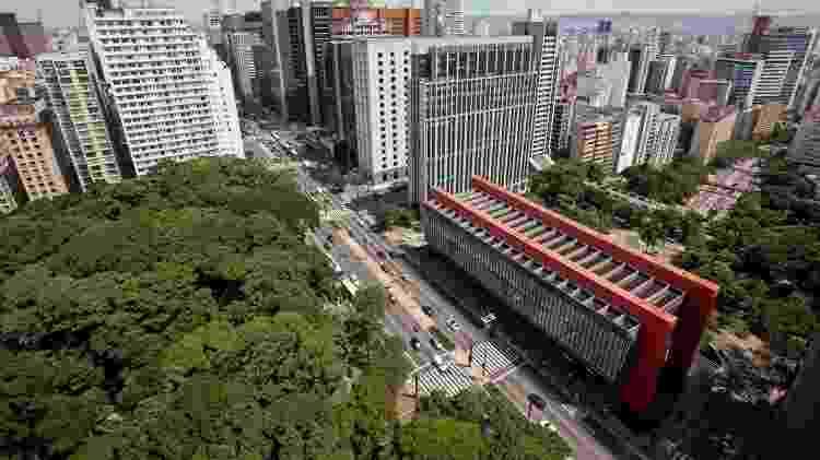 Avenida Paulista, um dos pontos mais visitados de São Paulo. O prédio do Masp se destaca em frente ao Parque Trianon - Simon Plestenjak/UOL - Simon Plestenjak/UOL