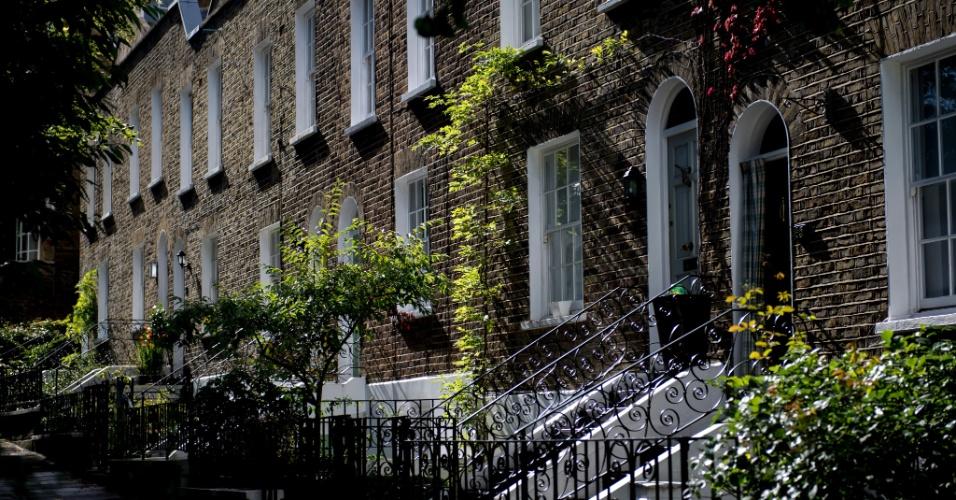 Flask Walk, em Hampstead,tem várias casas, além de lojas independentes interessantes