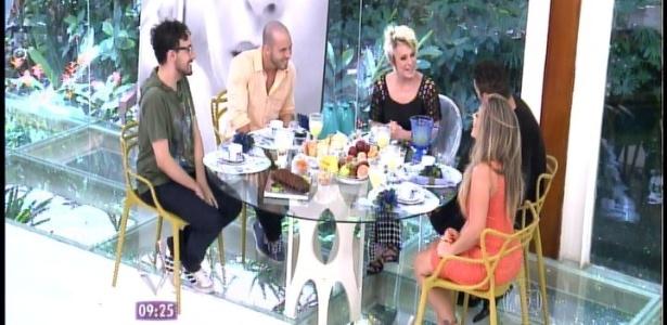 """Alisson, João Almeida, Rodrigo e Anamara participaram do """"Mais Você"""", com Ana Maria Braga"""