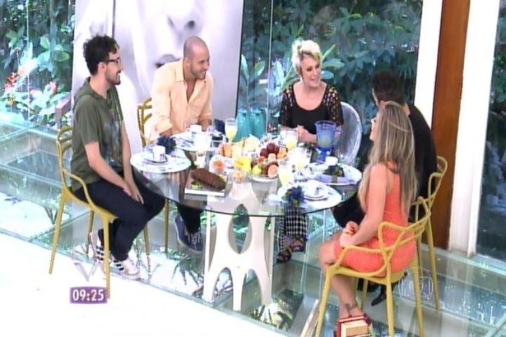 Os brothers Alisson, João Almeida, Rodrigo e Anamara participaram do programa
