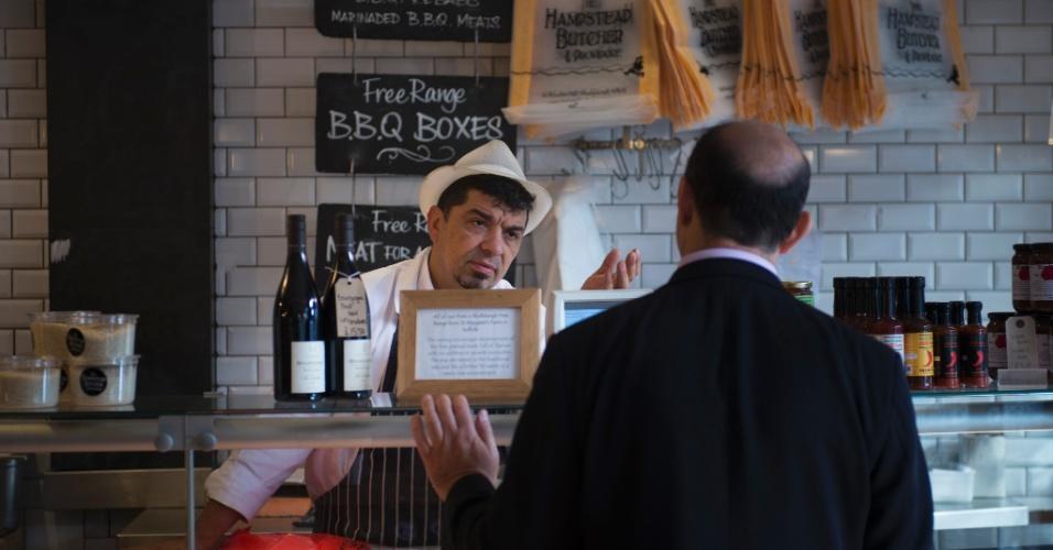 Pense em aperitivos para levar a um piquenique no Hampstead Heath passando para compras no Hampstead Butcher & Providore, em Londres