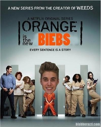 Após ser preso por dirigir alcoolizado, Justin Bieber virou piada na internet. A foto onde aparece sorrindo ao ser fichado virou alvo de montagens feitas pelos internautas. Bieber chegou a ganhar seu próprio seriado, baseado em
