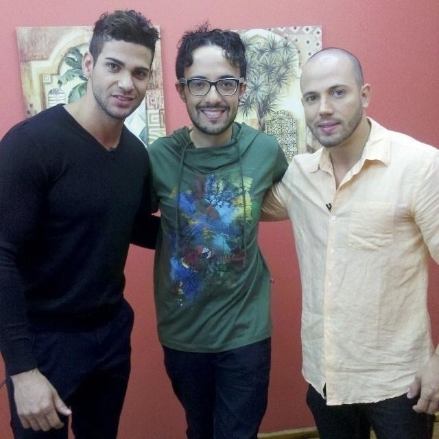 """Rodrigo, Alisson e João nos bastidores do programa """"Mais Você"""""""