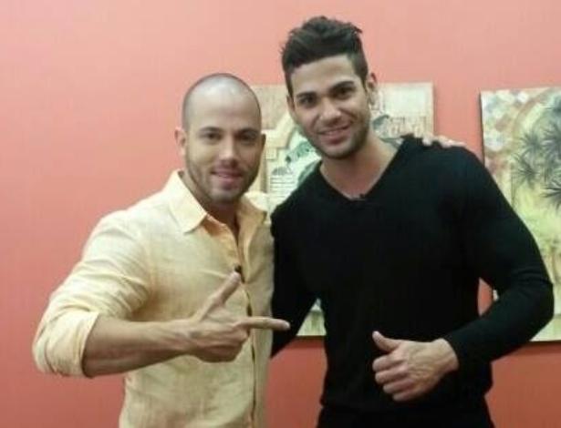 """Rodrigo e João nos bastidores do programa """"Mais Você"""""""